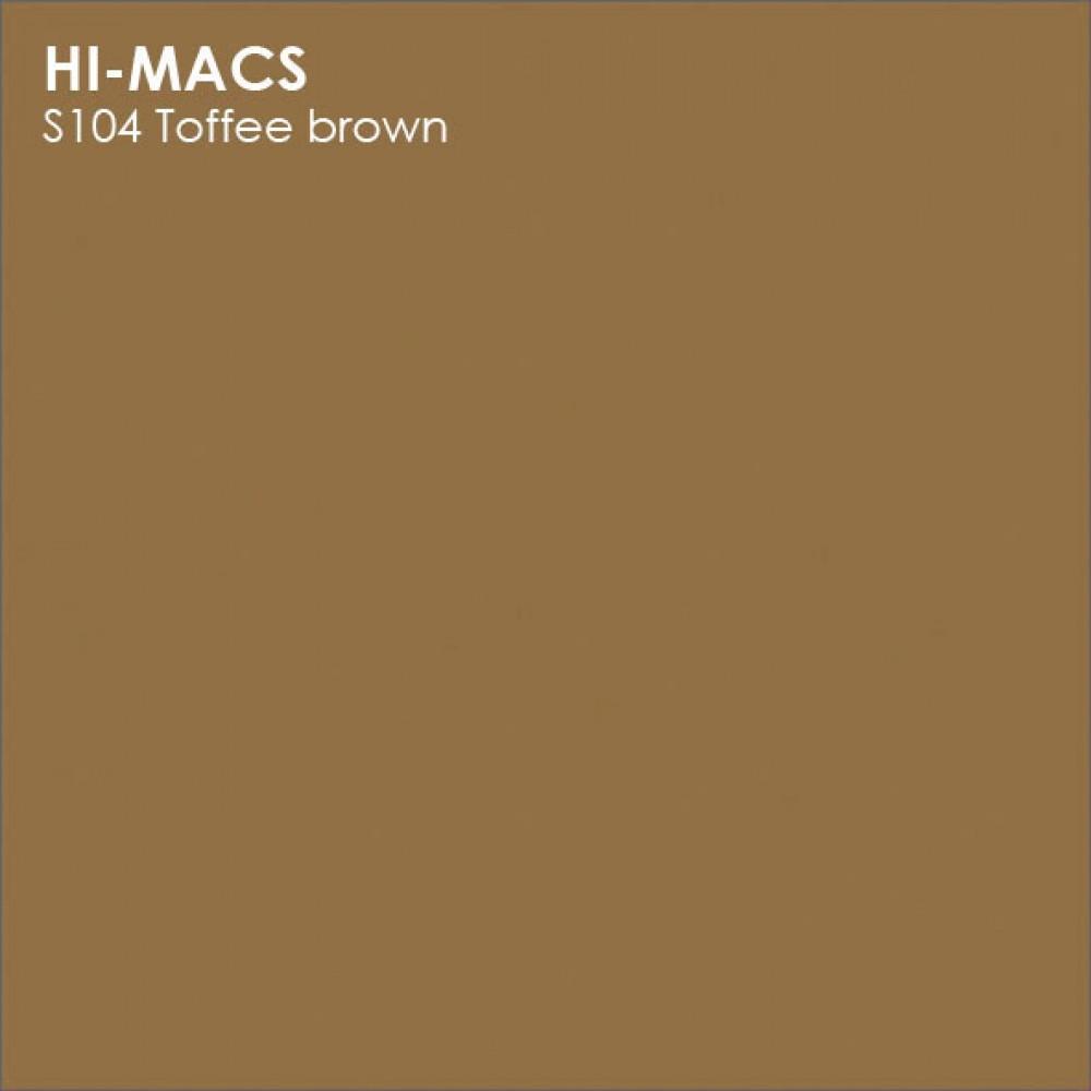 LG Hi-macs S104 Toffe Brown